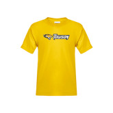 Youth Gold T Shirt-Tiger Head w/Towson Flat