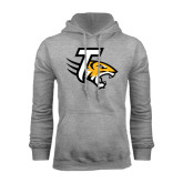 Grey Fleece Hoodie-T w/Tiger Head