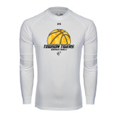 Under Armour White Long Sleeve Tech Tee-Basketball Solid Ball w/Calvert Pattern