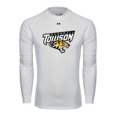 Under Armour White Long Sleeve Tech Tee-Baseball