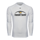 Under Armour White Long Sleeve Tech Tee-Towson Tigers Football Horizontal