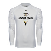 Under Armour White Long Sleeve Tech Tee-Geometric Lacrosse Head
