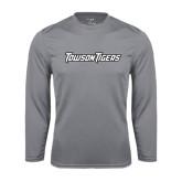 Performance Steel Longsleeve Shirt-Towson Tigers Wordmark