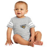 Vintage Heather Jersey Onesie-Primary Athletics Mark