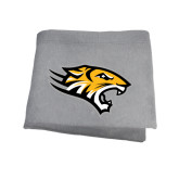 Grey Sweatshirt Blanket-Tiger Head