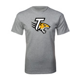 Grey T Shirt-T w/Tiger Head