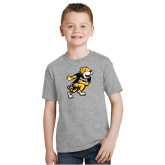 Youth Grey T Shirt-Running Youth Mark