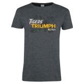 Ladies Dark Heather T Shirt-Tiger Triumph