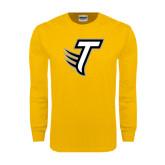 Gold Long Sleeve T Shirt-Towson T