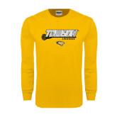 Gold Long Sleeve T Shirt-Lacrosse Stick w/Calvert Pattern