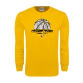 Gold Long Sleeve T Shirt-Basketball Solid Ball w/Calvert Pattern