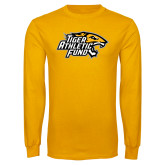 Gold Long Sleeve T Shirt-Tiger Athletic Fund