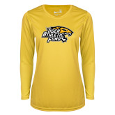 Ladies Syntrel Performance Gold Longsleeve Shirt-Tiger Athletic Fund