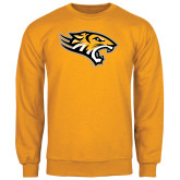 Gold Fleece Crew-Tiger Head