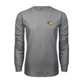 Grey Long Sleeve T Shirt-Tiger Head