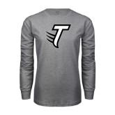 Grey Long Sleeve T Shirt-Towson T