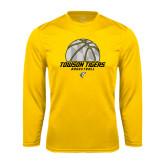 Performance Gold Longsleeve Shirt-Basketball Solid Ball w/Calvert Pattern