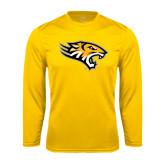 Performance Gold Longsleeve Shirt-Tiger Head