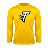Performance Gold Longsleeve Shirt-Towson T