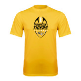 Performance Gold Tee-Towson Tigers Football Vertical