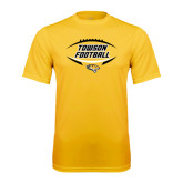 Performance Gold Tee-Towson Football Inside Ball