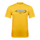 Performance Gold Tee-Flying Football w/Tiger Stripes