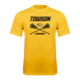 Performance Gold Tee-Lacrosse Crossed Sticks