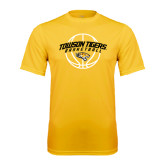 Performance Gold Tee-Basketball Arched w/Ball