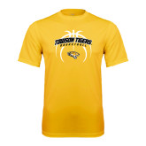 Performance Gold Tee-Towson Tigers Arched Over Basketball