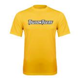 Performance Gold Tee-Towson Tigers Wordmark