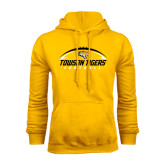 Gold Fleece Hoodie-Towson Tigers Football Horizontal
