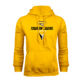 Gold Fleece Hoodie-Geometric Lacrosse Head