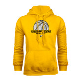 Gold Fleece Hoodie-Basketball Solid Ball w/Calvert Pattern