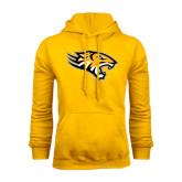 Gold Fleece Hoodie-Tiger Head