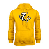 Gold Fleece Hoodie-T w/Tiger Head