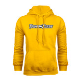 Gold Fleece Hoodie-Towson Tigers Wordmark