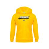 Youth Gold Fleece Hoodie-Lacrosse Stick w/Calvert Pattern