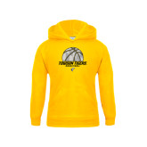 Youth Gold Fleece Hoodie-Basketball Solid Ball w/Calvert Pattern