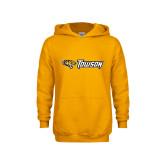 Youth Gold Fleece Hoodie-Athletics Wordmark