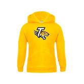 Youth Gold Fleece Hoodie-T w/Tiger Head