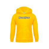Youth Gold Fleece Hoodie-Towson Tigers Wordmark