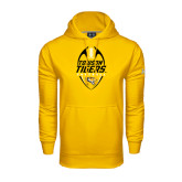 Under Armour Gold Performance Sweats Team Hoodie-Towson Tigers Football Vertical