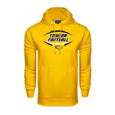 Under Armour Gold Performance Sweats Team Hoodie-Towson Football Inside Ball
