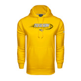 Under Armour Gold Performance Sweats Team Hoodie-Flying Football w/Tiger Stripes