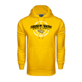 Under Armour Gold Performance Sweats Team Hoodie-Basketball Arched w/Ball