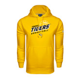 Under Armour Gold Performance Sweats Team Hoodie-Tigers Basketball Slanted w/Striped Pattern