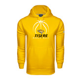 Under Armour Gold Performance Sweats Team Hoodie-Tigers Basketball Stacked Under Ball