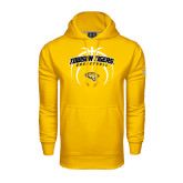 Under Armour Gold Performance Sweats Team Hoodie-Towson Tigers Arched Over Basketball