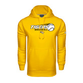 Under Armour Gold Performance Sweats Team Hoodie-Tigers Baseball Flat w/Flying Ball