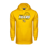 Under Armour Gold Performance Sweats Team Hoodie-Tigers Volleyball Stacked w/ Ball